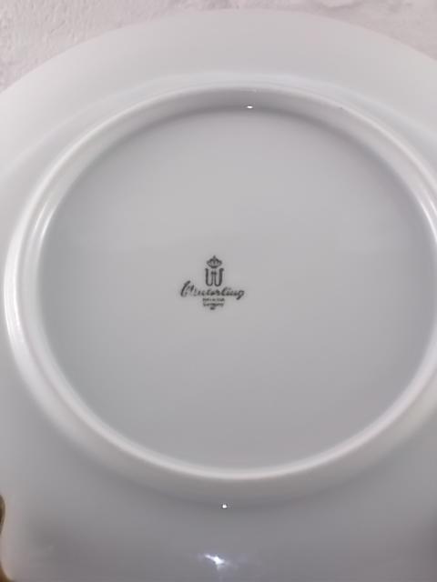 Assiette à Dessert en Porcelaine Blanche souligné d'un liseré en dorure