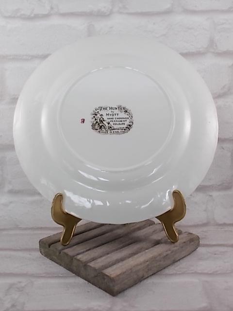 """Assiette décorative, en faïence, peint à la main, modèle """"The Hunter"""" de Myott, année 1960"""