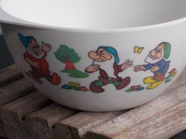 """Bol """"Blanche-Neige et les 7 nains"""" à Oreilles, en mélamine Blanche. Walt Disney Productions. De Téfal"""