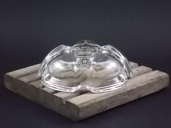 """Cendrier """"Battistoni"""" by Philip Morris en Cristal, garanti de plus de 24% de Plomb. Modèle """"Lude"""" de Cristal d'Arques"""
