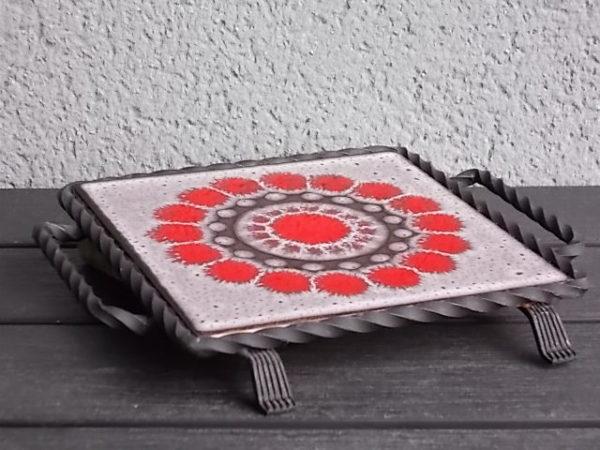 """Dessous de plat """"Rosace"""", en carreaux de Céramique et Fer Forgé. De la marque Villeroy & Boch"""