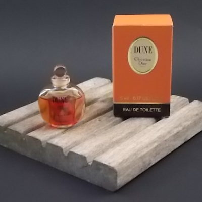 Miniature Dune Eau de Toilette 5 ml. Lancé en 1991. De la maison Christian Dior