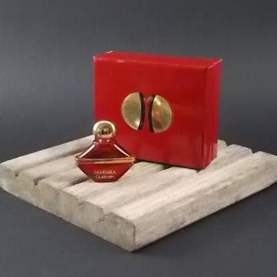 Miniature SAMSARA Parfum 2 ml dans sa boite coffret. Lancé en 1989, par Guerlain
