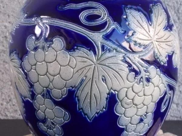 Pichet en Grès, décoré et tourné à la main, vitrification au sel. De Roger Paul Schmitter