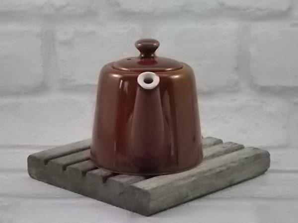 """Théière """"Bistrot"""" individuelle, en céramique Marron au ton dégradé. Modèle et N° de contenant C-69 3/0;"""