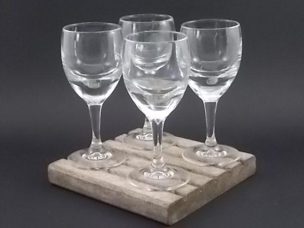"""Verre Ballon """"Trompe Œil"""" de Bistro. E verre épais à double fond. De la verrerie Cristal d'Arques Luminarc."""