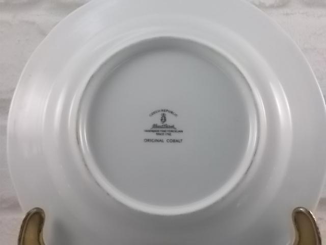 """Petite assiette décorative en porcelaine fine """"Original Cobalt"""" """" Haas & Czjzek"""" Handmade since 1792 Czech Républic"""